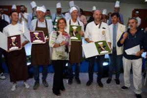 Chef e sindaci coi premi, Angelo Inglese e Antonella Imbò